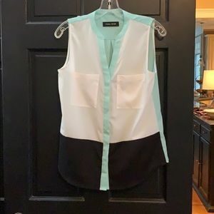 Color block blouse small